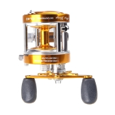 Full Metal 2+1BB Ball Bearings Right Hand Drum Wheel Boat Sea Fishing Reel Horizontal CL40 Golden