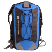 Outdoor Waterproof Backpack Bag Rafting Fishing Hiking Cycling for Mobile Phone Camera Black & Blue
