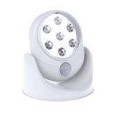 Cordless Motion Activated Sensor 360 Degree Rotation 7 LED Light