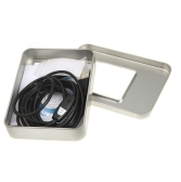 Waterproof 7mm USB Inspection Borescope Endoscope Snake Scope with Snapshot Button 6pcs LED 2m Tube