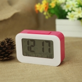 LED Digital Alarm Clock Repeating Snooze Light-activated Sensor Backlight Time Date Temperature Display Red
