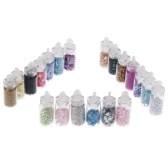 20 Bottles 3D Nail Art Glitter Rhinestone Powder Tips Decoration Manicure