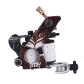 New Pro Tattoo Machine Shader Liner 10 Wrap Coils Free Spring Multicolour