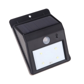 Solar Powered  Bright 4LED Light PIR Motion Sensor Water-resistant Environmental-friendly for Pathway Outdoor Stair Step Garden Yard Black