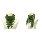 110*110cm Military Arabian Shemagh Tactical Desert Head Scarf Fringed Shawl Stole Muffler Headdress Unisex 100% Cotton Army Green