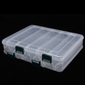 20*17*4.7cm Double Sided High Strength Transparent Visible Plastic Fishing Lure Box 10 Compartments with Drain Hole Fishing Tackle
