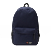 Casual Women Backpack Candy Color Solid School Bag Traveling Shoulder Bag Dark Blue