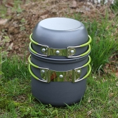 Portable Outdoor Cooking Set Anodised Aluminum Non-stick Pot Bowl Cookware Camping Picnic Hiking Utensils