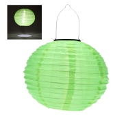 "10"" Solar Powered LED Light Chinese Nylon Fabric Lantern Lamp Lighting for Garden Outdoors"