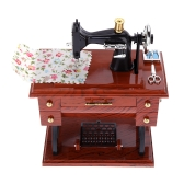 Creative Vintage Mini Sewing Machine Style Mechanical Music Box Birthday Gift