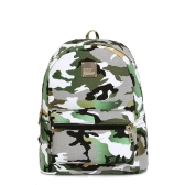 New Fashion Women Backpacks Camouflage Print Special Travel Shoulder Schoolbags Green