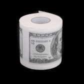 One Hundred Dollar Bill Printed Toilet Paper America US Dollars Tissue Novelty Fun $100 TP Money Roll Gag Gift
