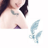 Tattoo Sticker Wings Pattern Waterproof Temporary Tattooing Paper Body Art