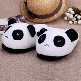 Indoor Novelty Slipper for Lovers Winter Warm Slippers Lovely Cartoon Panda Face Soft Plush Household Thermal Shoes 28cm / 11in