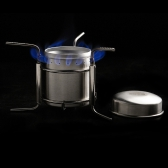 Stainless Steel Portable Mini Ultra-light Spirit Burner Alcohol Stove Outdoor Camping Stove Furnace with Stand B-1