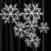 6pcs/Set Christmas Decoration 3D Snowflakes Hanging Ornaments Stereoscopic Snow as Tree Decor Accessories