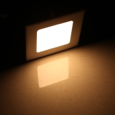 4W Square LED Recessed Ceiling Panel Light Down Lamp Ultra Thin Bright for Living Room Bathroom Bedroom Kitchen AC85-265V