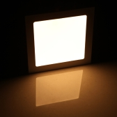 15W Square LED Recessed Ceiling Panel Light Down Lamp Ultra Thin Bright for Living Room Bathroom Bedroom Kitchen AC85-265V