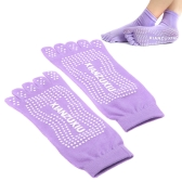 Yoga Socks 5-Toe Fashion Deodorant Breathable Cotton Non-slip Comfortable Foot Massage Purple