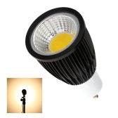 GU10 7W COB LED Spotlight Bulb Lamp Energy Saving High Brightness Warm White Black 85-265V