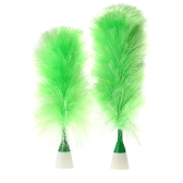 Multifunctional Electric Duster Set Motorized Cleaning Brush Green Feather Dusters for Blinds Furniture Keyboard