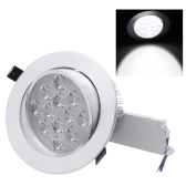 12*1W LED Recessed Ceiling Down Light Lamp Spotlight Indoor for Home Living Room Decoration Lighting with Driver AC85-265V