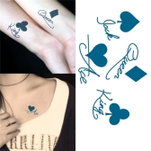 Tattoo Sticker Poker Pattern Waterproof Temporary Tattooing Paper Body Art