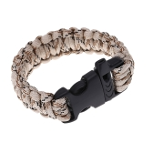 Multi-color Paracord Parachute Cord Emergency Kit Survival Bracelet Rope with Whistle Buckle Outdoor Camping
