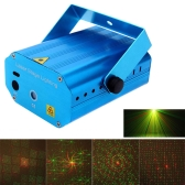 Mini Red & Green LED Laser Projector Stage Lighting Effect Patterns Voice-activated Voice-control DJ Disco Xmas Party Club Light Adjustment with Tripod AC110-240V