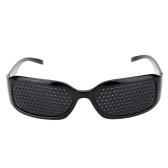 Black Vision Spectacles Eyesight Improvement Pinhole Pin Eyes Training Exercise Glasses Eyewear