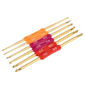 6pcs Aluminum Crochet Twin Needle Knitted Suit Weaving Tool Knitting Hooks Multicolor 2.0-9.0mm