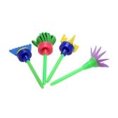 4pcs Creative Flower Stamp Sponge Brush Set Art Supplies for Kids DIY Painting Tool