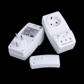 2-Pack Wireless Remote Control Power Outlet Plug Socket Switch Set for Lamps Household Appliance 120V-230V