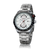 CURREN 8148 Fashion Business Men Wristwatch Water-resistant Stainless Steel Analog Quartz Calendar Date Watch