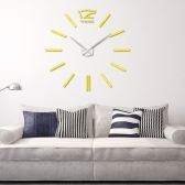 Modern DIY Wall Clock Scale Large Watch Decor Stickers Set Mirror Effect Acrylic Glass Decal Home Removable Decoration