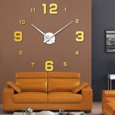 Simple Digits Wall Clock Sticker Set Creative DIY Mirror Effect Acrylic Glass Decal Home Removable Decoration