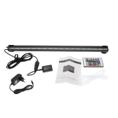 46cm 5.2W 18 LEDs Bubble Aquarium Light 120 Degree RGB 15Colors IP68 Submersible Remote Control Fish Tank LED Light Bar