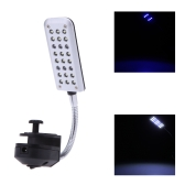 Aquarium Fish Tank Water Plant 24 LEDs Clip Light Lighting Lamp 2 Working Modes White & Blue  Flexible