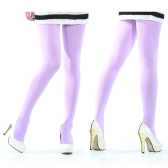 80D Velvet Pantyhose Light Purple