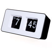Retro Auto Flip Clock Classic Stylish Modern Desk Wall Clock
