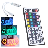 5-24V 44 Key Wireless IR Remote RGB LED Mini Controller Dimmer for LED Strip 5050 3528