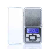 High Accuracy Mini Electronic Digital Pocket Scale Jewelry Weighing Balance Portable 500g/0.1g Counting Function Blue LCD g/tl/oz/ct
