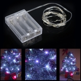 2m 20-LED Battery Powered String Light Lamp Decoration Lighting for Christmas Party Wedding 4.5V White