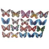 20pcs 8cm Artificial Butterfly Luminous Fridge Magnet for Home Christmas Wedding Decoration