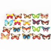 20pcs 10cm Artificial Butterfly Luminous Fridge Magnet for Home Christmas Wedding Decoration