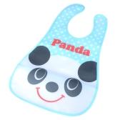 Cute Panda Baby Bib Infant Saliva Towel Waterproof Unisex with Pouch