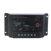 30A 12/24V Solar Panel Battery Charge Controller Regulator Light&Timer Control Temperature Compensation PWM