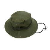 Outdoor Fishing Camping Hiking Sun Cap Round Rim Men Women Hat Army Green