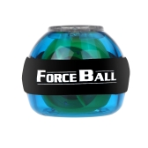 Gyroscope LED Wrist Power Force Ball Grip Ball Arm Muscle Exercise Strengthener Speed Meter Blue