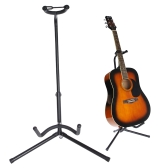 Guitar Stand Tubular Acoustic Guitar Stand Folding Tripod Holder Padded Storage Rack